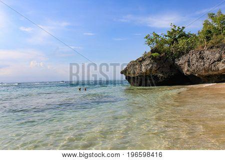 Sunny day at Padang Padang Beach - Bali, Indonesia