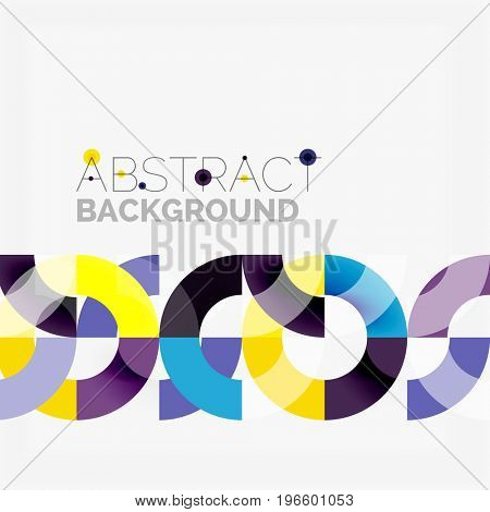 Colorful rings on grey background, modern geometric pattern design. business or technology presentation design template, brochure or flyer pattern, or geometric web banner
