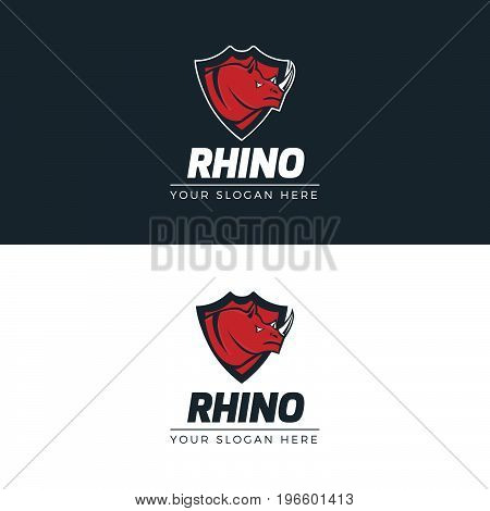 Rhino Logo. Logo template for your business