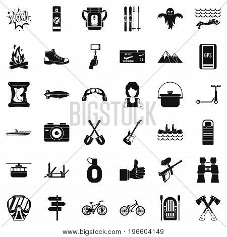 Great adventure icons set. Simple style of 36 great adventure vector icons for web isolated on white background