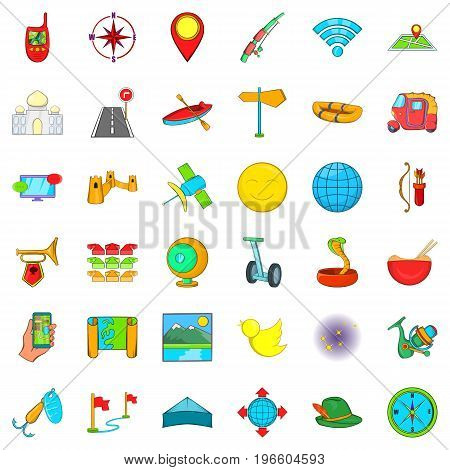 Summer sport icons set. Cartoon style of 36 summer sport vector icons for web isolated on white background