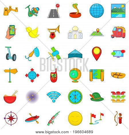 Leisure sport icons set. Cartoon style of 36 leisure sport vector icons for web isolated on white background
