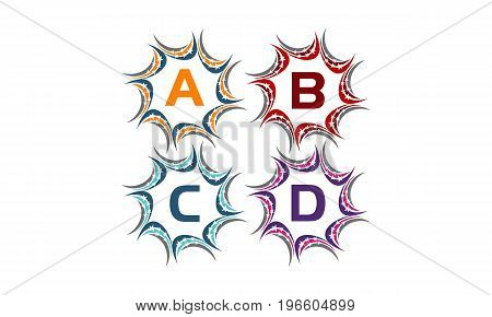 This image describe about Star Swoosh Solution Initial A B C D