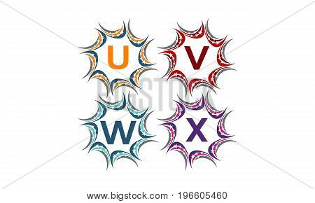 This image describe about Star Swoosh Solution Initial U V W X