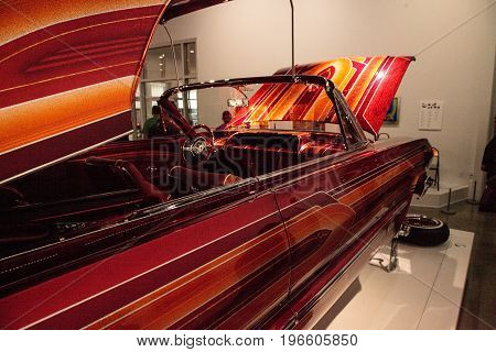 El Rey Candy Colored Lowrider 1963 Chevrolet Impala By Artist Albert De Alba