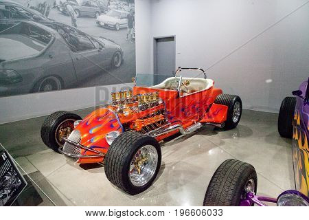 Orange 1925 Ford Altered T Roadster Called Golden Star