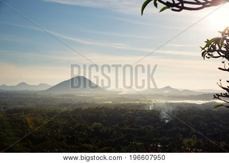 Scenic mountain landscape, Ceylon nature