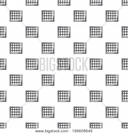 Prison pattern seamless repeat in cartoon style vector illustration