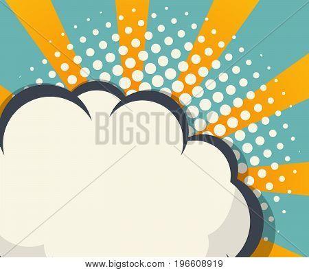 abstract blank speech bubble pop art comic book background vector illustration