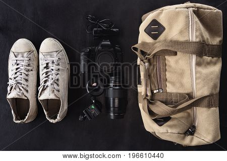 camera accesserie set ready to go outdoor concept