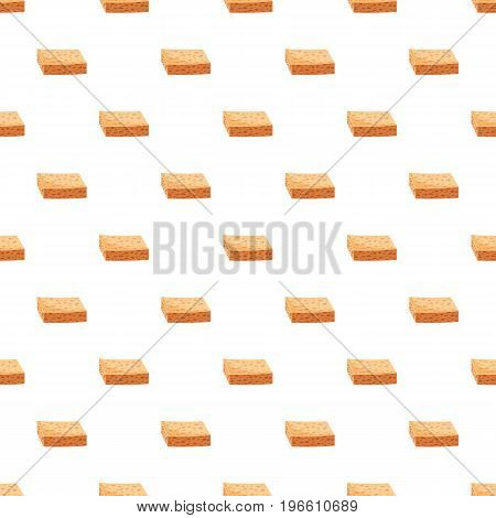 Sponge for cleaning pattern seamless repeat in cartoon style vector illustration