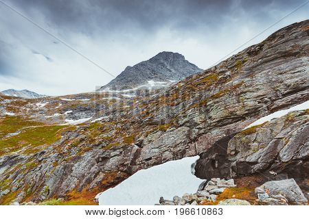 Cold Norway Landscape, Rocks Stones And Mountain