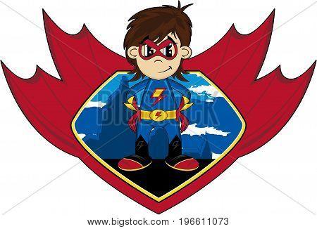 Superhero And Shield