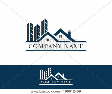 Real Estate vector logo design template color set. rooftop abstract concept icon. Realty construction architecture symbol.