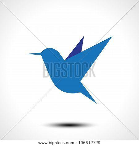 Hummingbird icon isolated on white. Vector illustration