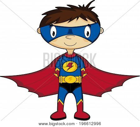 Super Boy Caped Hero