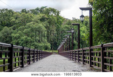 Bridge over the reservoir in Chiang Mai UniversityThailand.