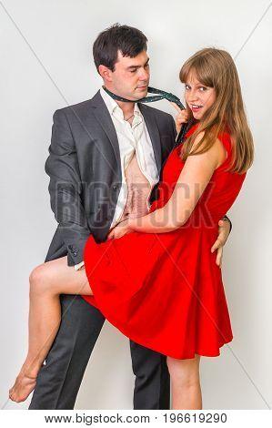 Portrait Of Beautiful Sexy Couple