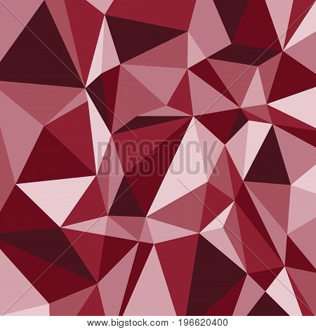 Red polygon abstract triangle background, stock vector