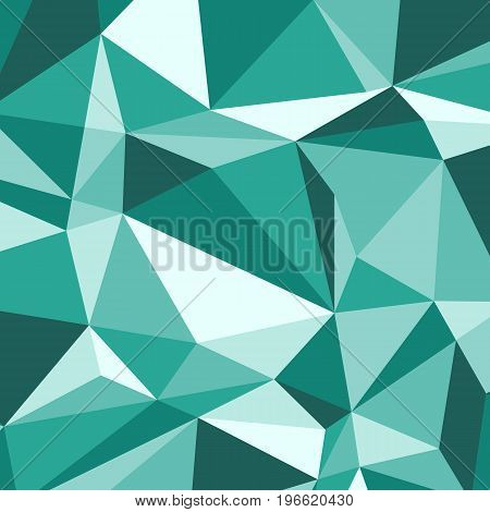 Green polygon abstract triangle background, stock vector