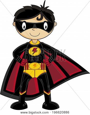 Masked Super Boy Hero