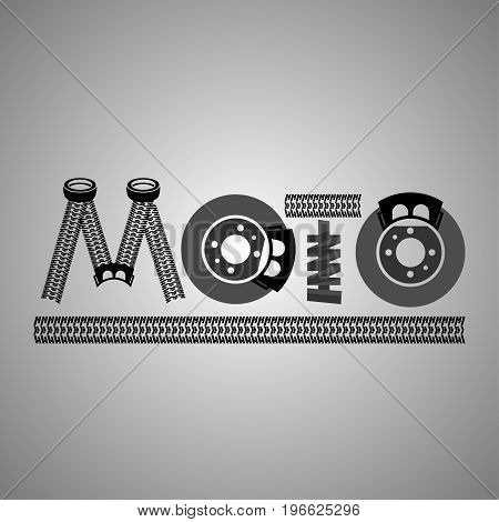 Beautiful vector illustration useful for a car shop banner or logotype design. Flat graphic style. Transportation automotive concept isolated on a light grey background.