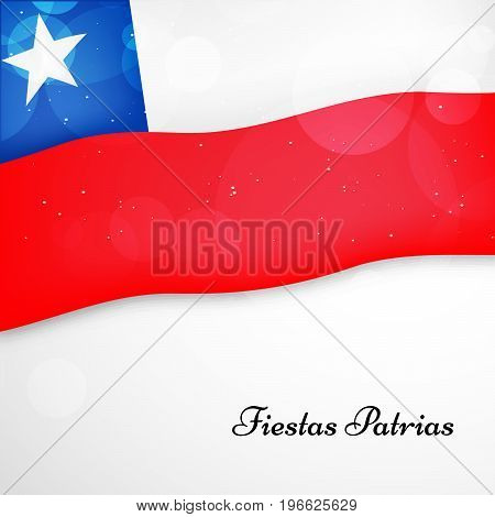 illustration of Chile flag background with Fiestas Patrias text on the occasion of Chilean Fiestas Patrias