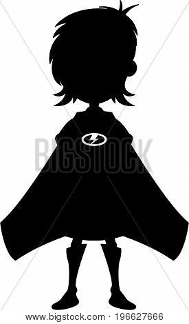 Cute Supergirl Silhouette