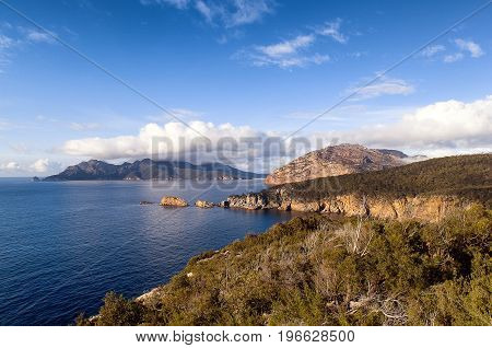 View From Cape Tourville Tasmania