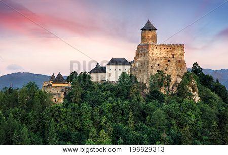 Stara Lubovna castle in Slovakia Europe landmark