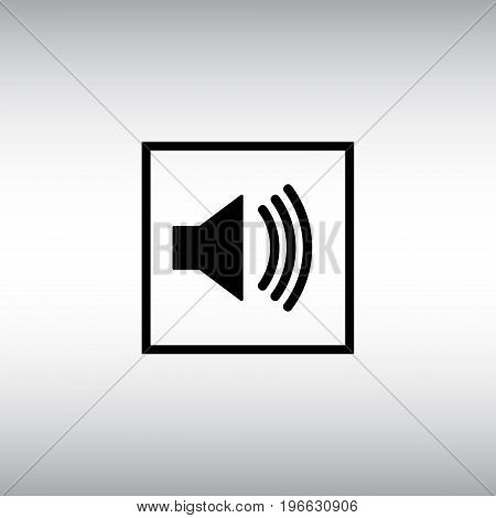 Sound flat vector icon. Sound isolated vector sign. Sound settings menu sign.