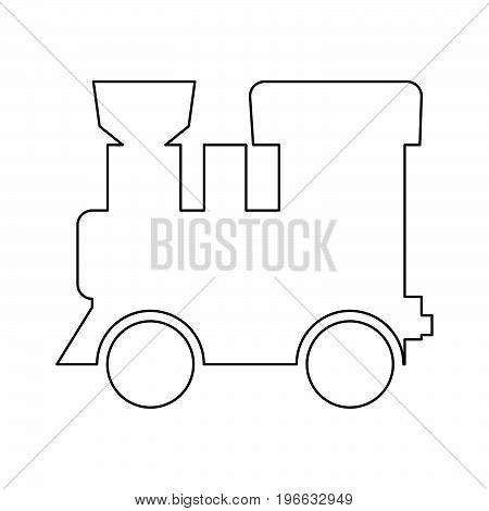 Steam Locomotive - Train Black Color Path Icon .