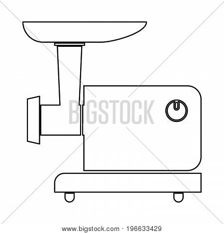 Electric Meat Mincer Black Color Path Icon .