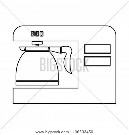 Coffeemaker it is black color icon .
