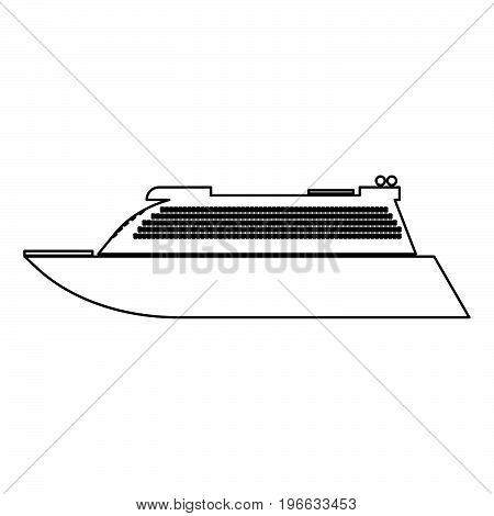 Transatlantic Cruise Liner Black Color Path Icon .