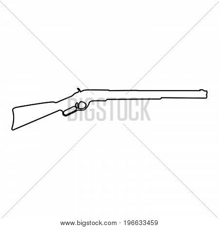 Rifle Black Color Path Icon .