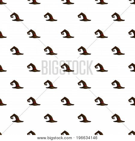 Witch hat pattern seamless repeat in cartoon style vector illustration