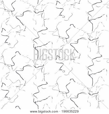 White marbled stone seamless white vector texture. Artificial stone grey marks and white vector background.
