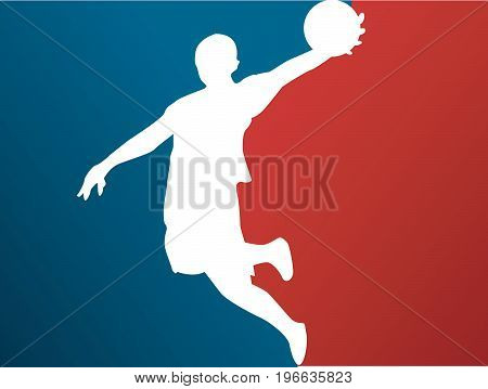 Basketball player vector illustration art design with colored background