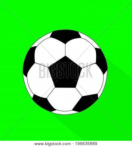 vector soccer ball flat style illustration art