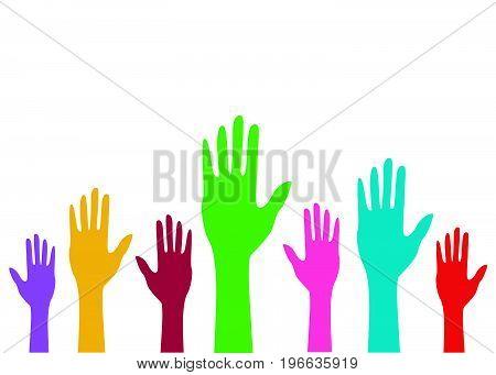 hands vector illustration on white background art