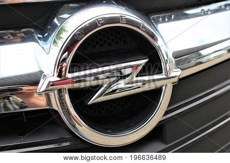 An Image of a Opel Logo - Bielefeld/Germany - 07/23/2017