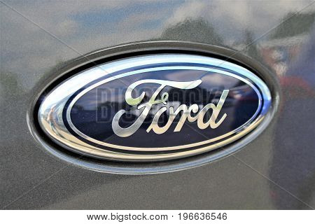 An Image of a Ford logo - Bielefeld/Germany - 07/23/2017