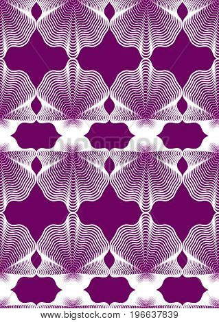 Continuous vector pattern with graphic lines decorative abstract background with geometric figures. Colorful ornamental seamless backdrop can be used for design and textile.