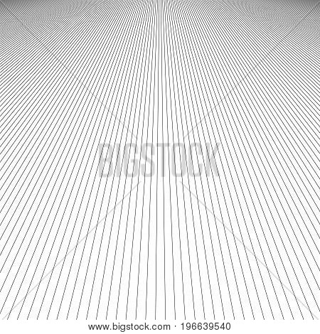 Abstract monochrome line pattern background design - vector graphic from black stripes on white