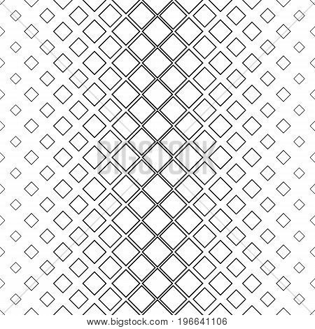 Black and white abstract vertical square pattern background - monochromatic vector illustration from diagonal squares