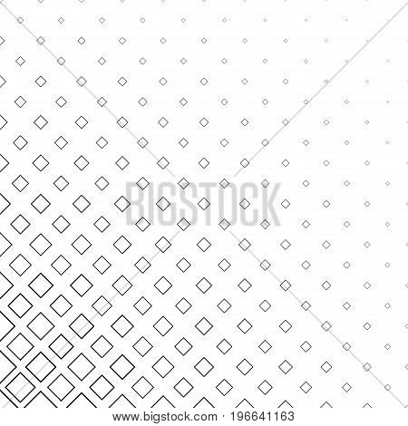 Monochromatic abstract square pattern background - black and white geometrical vector graphic from diagonal squares