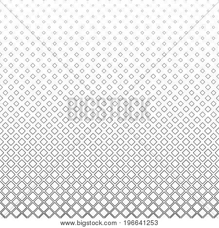 Monochrome abstract square pattern background - black and white geometric vector design from diagonal squares