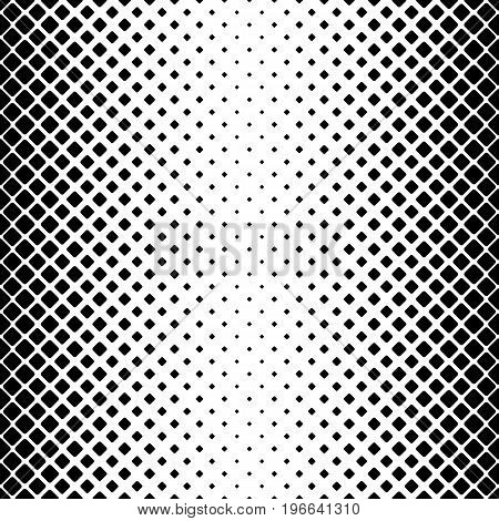 Monochrome abstract vertical square pattern background - black and white geometrical vector border design from diagonal rounded squares