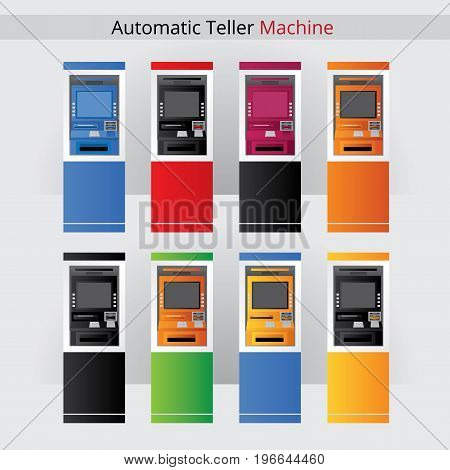 Atm Vector Illustration Automatic Teller Machine for Cash